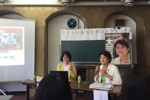左:友沢ゆみ子さん 右:前参議院議員 大河原まさこさん